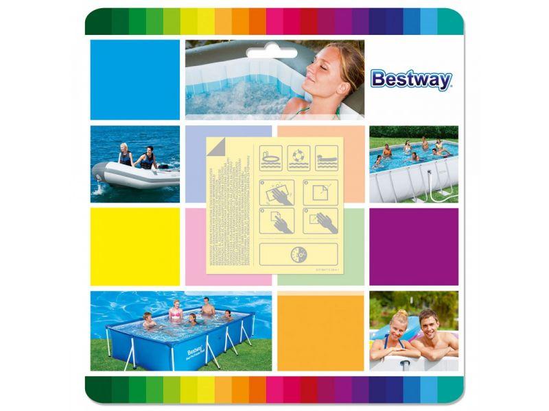 Bestway víz alatt ragasztó folt lágyfalú medencéhez 10 db
